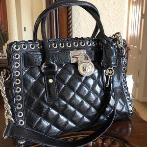 Michael lots black satchel bag